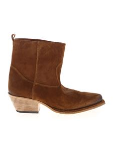 Vic Matiè - Texan ankle boots in brown suede