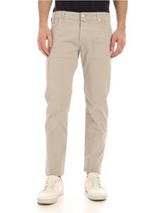 Jacob Cohën - Pants in beige with tone-on-tone logo