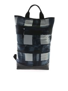 Rundholz Black Label - Handbag in blue with checked print
