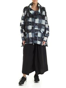 Rundholz Black Label - Oversize jacket in bue with check print