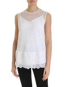 Ermanno by Ermanno Scervino - Mesh top in white with removable lining
