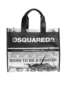 Dsquared2 - Clear Dsquared2 PVC shopping bag