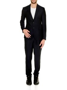 Dsquared2 - Textured Wool Manchester Suit in dark blue