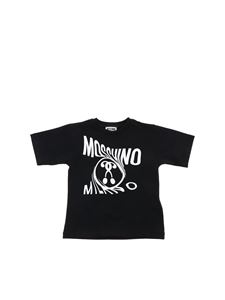 Moschino Kids - Double Question Mark logo T-shirt in black