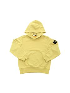 Stone Island Junior - Hooded sweatshirt  in mustard yellow