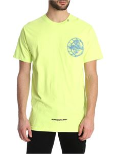 Off-White - 3D Crossed T-shirt in neon yellow