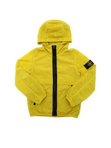 Stone Island Junior - Hooded jacket in mustard yellow