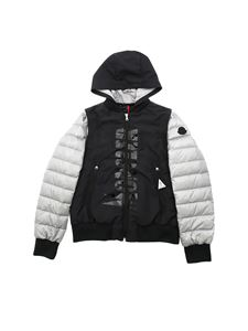 Moncler Jr - Merlat jacket in grey and black with hood