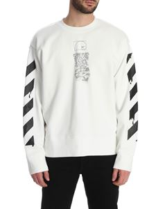 Off-White - Dripping Arrows Incomplete sweatshirt in white