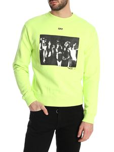 Off-White - Spray Painting sweatshirt in neon yellow
