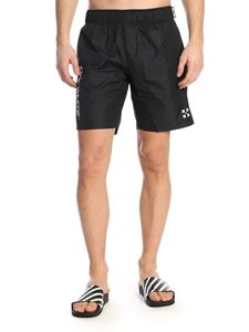 Off-White - Branded swim trunks in black