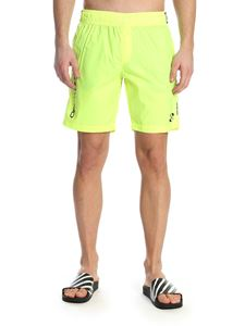 Off-White - Branded swim trunks in neon yellow