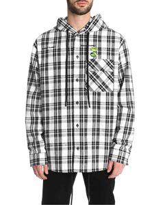Off-White - Hoodie Check shirt in black and white