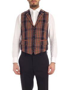 Vivienne Westwood  - Checked waistcoat in blue and orange