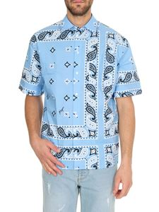 MSGM - Bandana print shirt in light blue