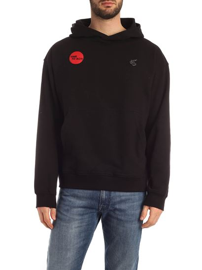 Vivienne Westwood Anglomania - Time To Act sweatshirt in black