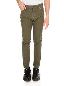 MSGM - Jeans in army green with fluorescent patch