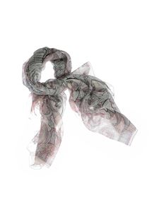 Etro - Bombay ivory scarf with floral print