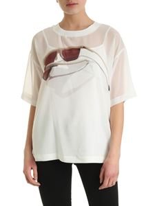 DKNY - Glasses logo print T-shirt in white