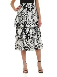See by Chloé - Ruffles skirt in black and white