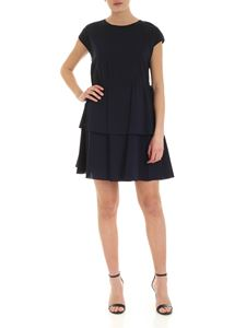 See by Chloé - Drawstring at the waist dress in dark blue