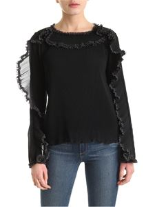 See by Chloé - Ruffles long-sleeved sweater in black