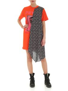 McQ Alexander Mcqueen - Hybrid Psyco dress in orange