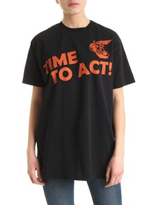 Vivienne Westwood Anglomania - New Boxy Time To Act T-shirt in black