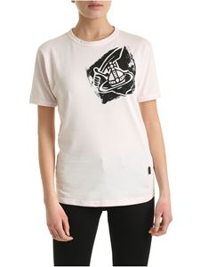 Vivienne Westwood Anglomania - New Classic Arm&Cutlass T-shirt in pink