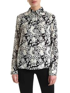 See by Chloé - Viscose and silk shirt in black and white