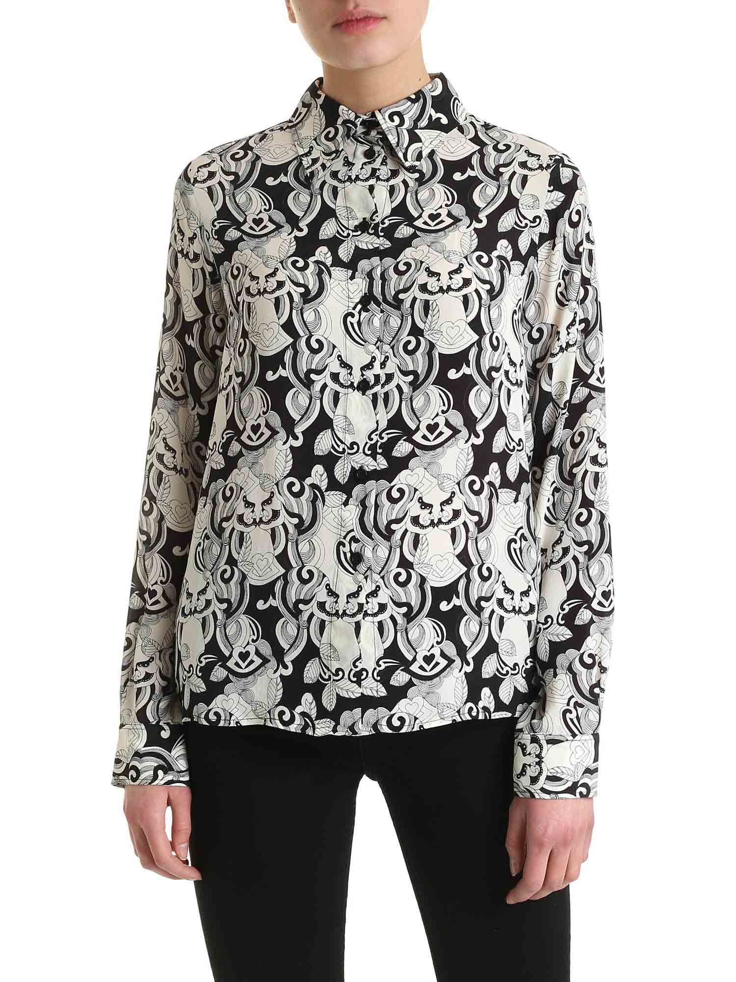 See By Chloé Viscose And Silk Shirt In Black And White