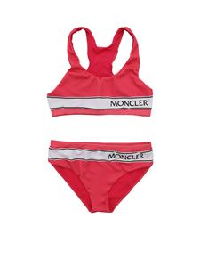 Moncler Jr - Branded bikini in fuchsia