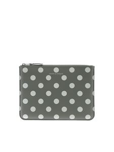 Comme Des Garçons Wallet - Polka Dots pouch in grey