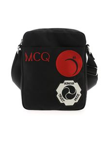 McQ Alexander Mcqueen - Messenger shoulder bag in black