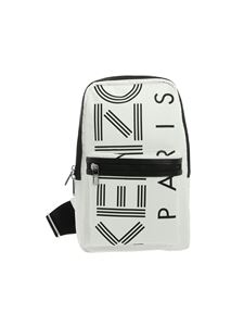 Kenzo - One-shoulder white backpack with logo