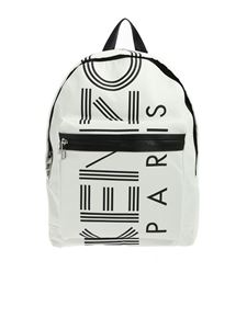 Kenzo - KENZO print backpack in white