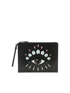 Kenzo - Kontact Eye clutch bag in black