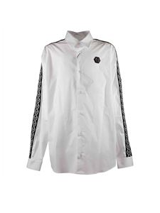 Philippe Plein Junior - Shirt in white with sleeves branded bands