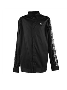 Philippe Plein Junior - Shirt in black with sleeves branded bands