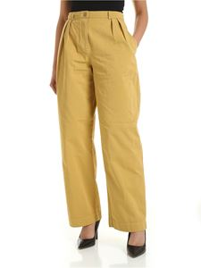 Acne Studios - Cotton twill pants in mustard color