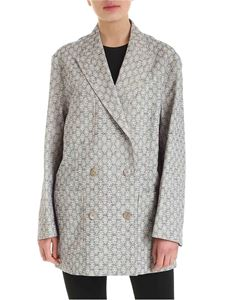 Acne Studios - Jacquard print jacket in blue and white