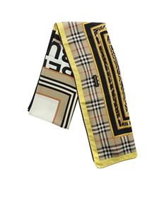 Burberry - Canes multipattern silk scarf