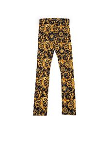 Versace Young - Barocco Signature print leggings in black
