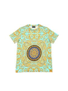 Versace Young - T-shirt turchese stampa Le Pop Classique