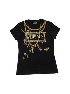 Versace Young - 90S Vintage Logo t-shirt in black
