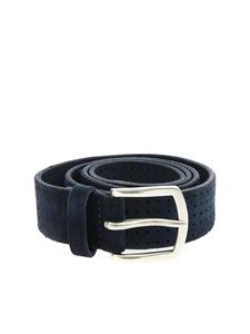 Orciani - Hunting openwork leather belt