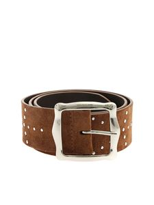 Orciani - Savage suede belt in brown