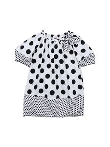 Il Gufo - Black and white polka dot dress