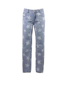 Stella McCartney Kids - Jeans Skinny Stars in cotone stretch azzurro
