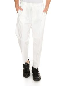 Jil Sander - Pants in white with elastic waistband